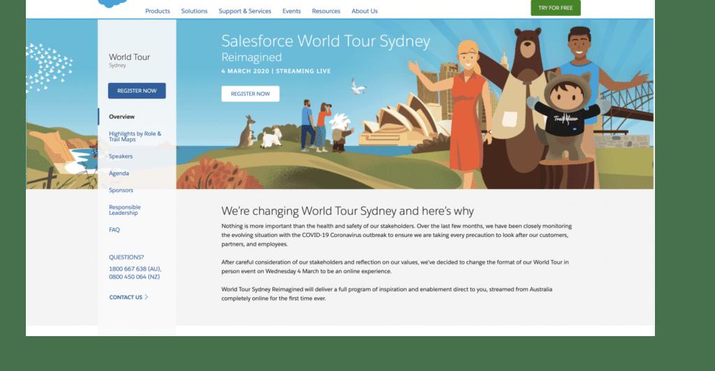 El tour virtual de Salesforce