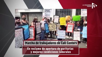 Argentina: Se movilizaron este jueves las trabajadoras y trabajadores de call center