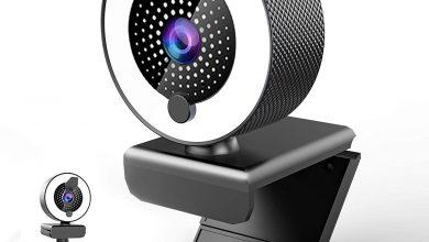 Webcam con Microfono y Luz Anular MHDYT