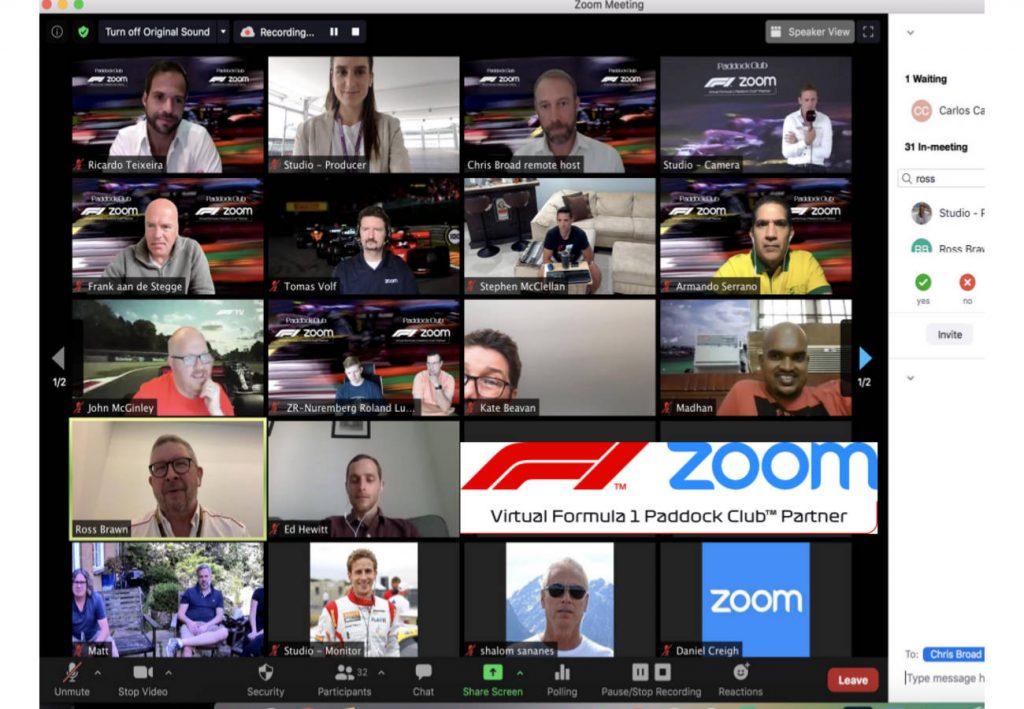 Zoom: Comunicaciones Unificadas y videoconferencias para abrir nuevos modelos comerciales para la Fórmula 1